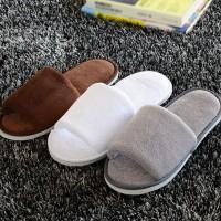 Sandal Selop Rumah Wanita Open Toe Bahan Bulu Fleece Hangat untuk Musi