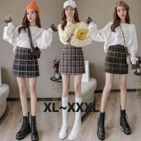 (#8927 XL/XXL/XXXL)Hanbyeol Skirt/Rok Mini/Rok Pendek