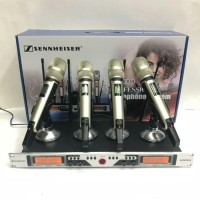 Mic wireless Sennheiser SKM-9004 + koper(4 mic pegang Multy channel)