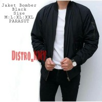 Jaket Bomber ORIGINAL BLACK Waterproof Anti Air (POLOS) D552