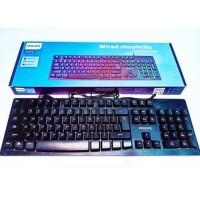 PHILIPS K-214 Keyboard Gaming Rainbow LED Lightning