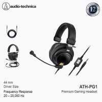 """Audio Technica ATH-PG1 Closed-Back Premium Gaming Headset with 6"""" Boom"""