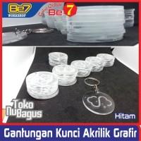 Gantungan Kunci Akrilik Grafir-Costum-Min order 50pcs-2mm-min 36cm2