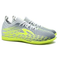 Sepatu Futsal Specs Swervo Venero 19 IN - Cool Grey/Safety