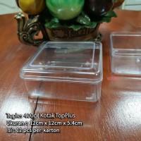 Toples Kue Kering Snack Nastar Kotak 400Gr Merek TopPlus (12x12x5.4cm)