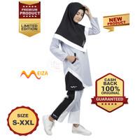 MEIZA SPORTSWEAR Baju Olahraga Baju Senam Wanita Muslimah Syari Grey - S