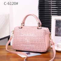 Chanel Deauville Shopping Canvas Handbag C-6120#
