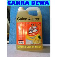 Mr Muscle Pembersih Lantai keramil pel lemon Fresh Galon 4 Liter
