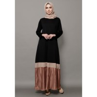Mybamus Anandya Mix Plisket Dress Black M15243 R60S2
