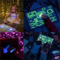 Mainan Edukasi Papan Tulis Anak Draw With Light Fun Toys Ready Stok