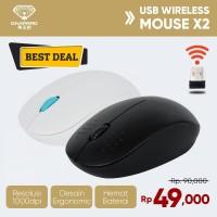 Wireless Mouse Divipard X2 Mouse 1000DPI Hemat Baterai