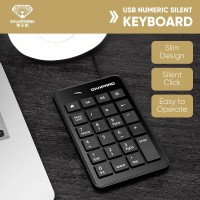 Keyboard Numeric Divipard USB Mini Keypad 23 Keys Mute Wired