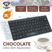 Keyboard USB Mini Standar Divipard Choco for PC Laptop Android