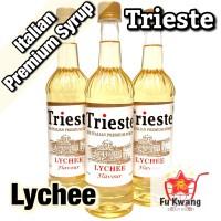 Sirup Trieste Premium Syrup Rasa Lychee Leci Flavour 650 ml