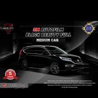 3M kaca film full black beauty - medium car - Pasang di Toko