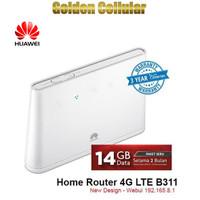 Huawei B311 Modem Home Router Wifi 4G Huawei Free Telkomsel 14gb