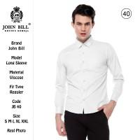 Kemeja Formal Putih | Kemeja Kantor Pria | JOHN BILL | Lengan Panjang - S
