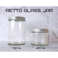 RETTO Straight Glass Jar 700 mL | Toples Kaca | Jar Kaca Cantik