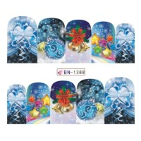 Christmas Ornaments Water Decal Nail Sticker Stiker Kuku Decal B1388
