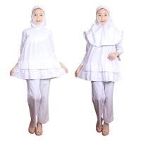 Baju Setelan Celana Anak Putih Fayrany FCP-004 - 2-3 tahun