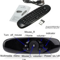 AIR MOUSE WIRELESS KEYBOARD REMOTE 2.4 GHZ 3D MOTION - C120 MURAH