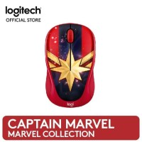 LOGITECH M238 MARVEL COLLECTION WIRELESS MOUSE - CAPTAIN MARVEL MURAH