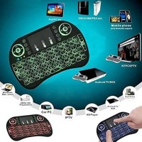 4CONNECT I8 RGB WIRELESS MINI KEYBOARD WITH TOUCHPAD & AIR MOUSE MURAH