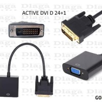 DVI-D 24+1 TO VGA HDTV CONVERTER MONITOR CABLE DVI TO VGA ACTIVE MURAH