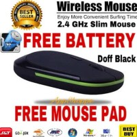 MOUSE WIRELESS SLIM USB 2.4GHZ MIRIP RAPOO 3500 + BATTERY + MOUSEPAD