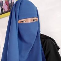 niqab long yaman blue