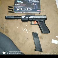 Handgun glock g17 upgrade jhon wick model Sistem sekali kokang sekali