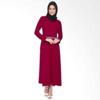 Premium Gamis Polos variasi renda tangan Panjang - Diana Marun