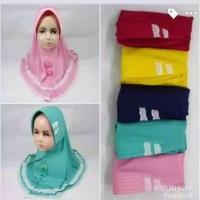 Jilbab Anak anak/ Renda Full Pita Depan