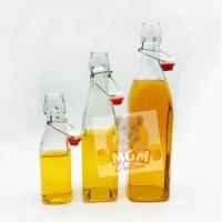 KORKON Kotak botol kaca 250ml dengan stopper tutup kawat kedap