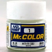 Mr Color C 1 White - Gundam Model Kitt Paint
