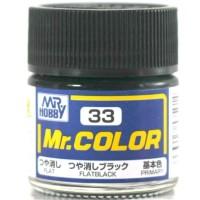 Mr Color C 33 Flat Black - Gundam Model Kitt Paint
