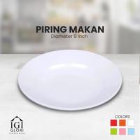 Glori Melamin 9 inch Piring Makan Cantik Nasi Original SNI Warna G2009
