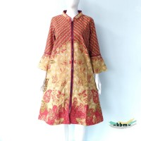 dress batik pendek tunik Farida #01 D 2522