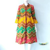 rainbow batik dress wanita pendek