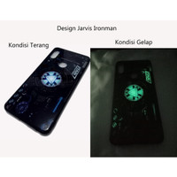 Softcase OPPO A3S Crystal Glass Case Cover Original Glow in The Dark