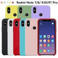 Liquid Soft Silicone Case For Xiaomi Redmi Note 8 7 6 5 K20 Mi 9T Pro