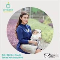 Omiland Selimut Topi Bayi Panda Series OBB1311