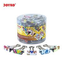 Binder Clip / Klip / Penjepit Kertas Joyko 107FC1 / 1 DRUM 40 PCS