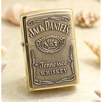 Original Zippo Jack Daniels label tembaga 254BJD428