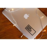 Decal Sticker Macbook Stiker Work Hustle Repeat Quotes Laptop