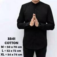 Kemeja Koko Pria Lengan Panjang / Koko Murah Modern - Biru Muda, XL