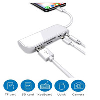 LIGHTNING 5 IN 1 USB OTG TO CAMERA CARD READER SD/TF FOR IPHONE/IPAD