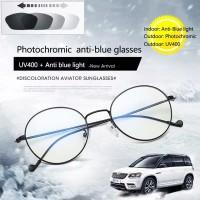 Kacamata Komputer photochromic UV Anti Radiasi blue ray Transisi Oval