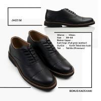 Sepatu Pantofel Pria Formal Hitam Kulit Asli Original - REYL Jazz 02
