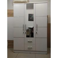 Lemari pakaian 3 pintu cermin putih minimalis dress/ gamis BANDUNG